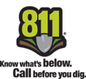 811 Konw what's below.   Call before you dig.