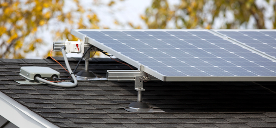 Photo of solar panels on roof